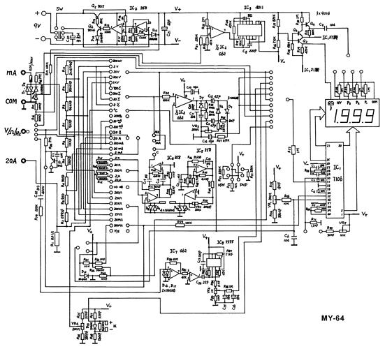 mastech my-64 schematic