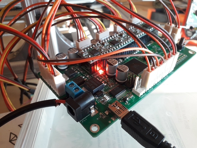 x-axis continuous light motherboard
