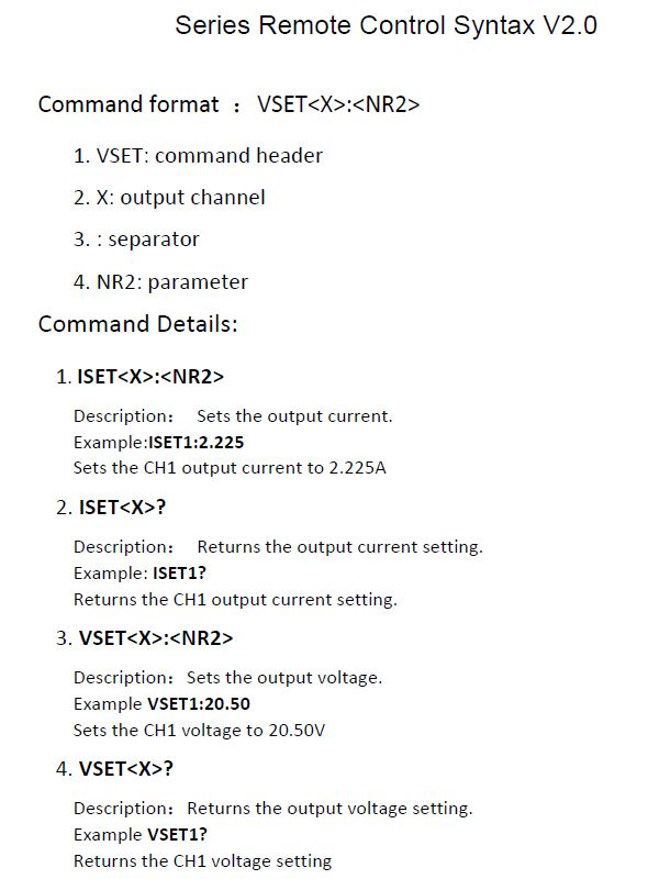 Series Remote Control Syntax v2_0