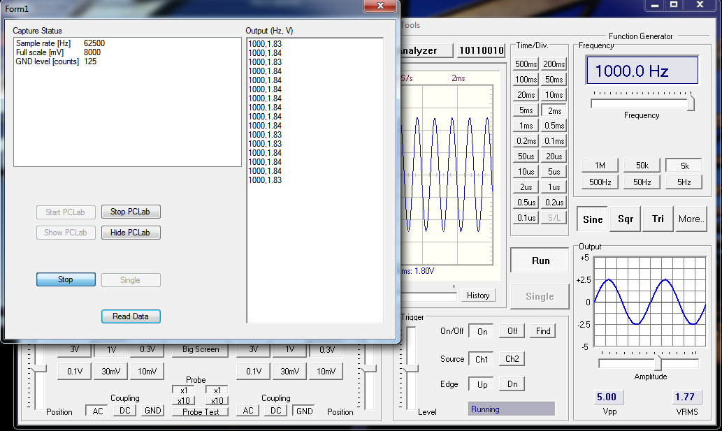 Using PCSU200 DLL vb net example with source code - PC Oscilloscopes